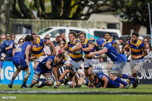 Jesse Parete of the Steamers during the Mitre 10 Cup Semi Final match between Bay of Plenty and Otago on October 21 2017 in Tauranga New Zealand