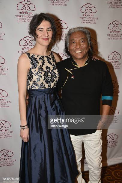 Jesse Paris Smith and Tenzin Choegyal attend the after party for the Tibet House US 30th Anniversary Benefit Concert Gala to celebrate Philip Glass's...