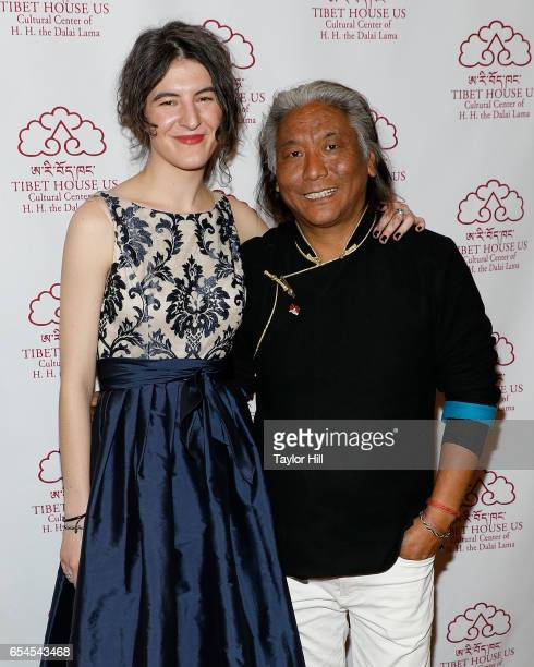 Jesse Paris Smith and Tenzing Cheogyal attend the Tibet House US 30th Anniversary Gala Celebration at Gotham Hall on March 16 2017 in New York City