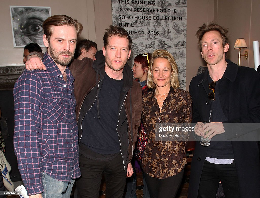 Jesse Peyronel, Robin Scott Lawson, Tara Agace and guest attend a special screening of 'The Uncountable Laughter of The Sea' at Soho House Dean Street on February 7, 2016 in London, England.