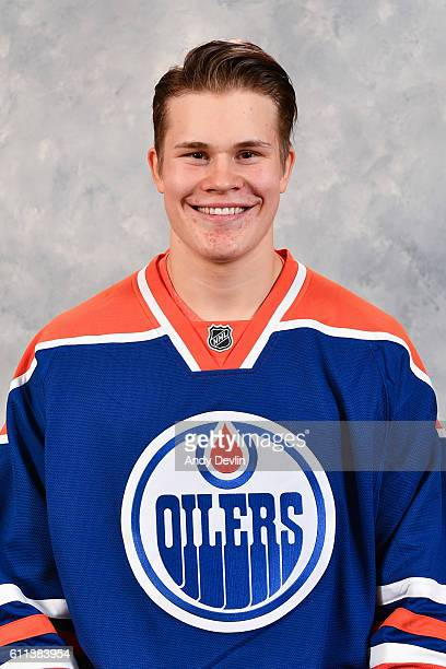 Jesse Puljujarvi of the Edmonton Oilers poses for his official headshot for the 20162017 season on September 22 2016 at the Rogers Place in Edmonton...