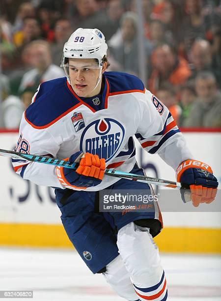 Jesse Puljujarvi of the Edmonton Oilers skates against the Philadelphia Flyers on December 8 2016 at the Wells Fargo Center in Philadelphia...