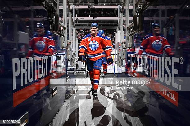 Jesse Puljujarvi of the Edmonton Oilers walks to the dressing room prior to the game against the Washington Capitals on October 26 2016 at Rogers...