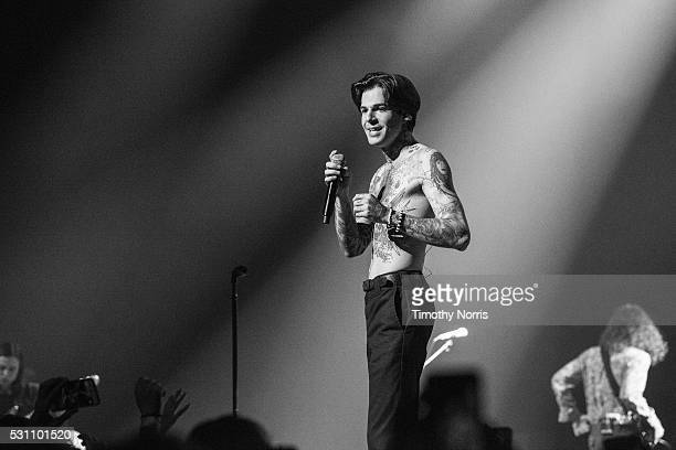 Jesse Rutherford of The Neighbourhood performs at Microsoft Theater on May 11 2016 in Los Angeles California