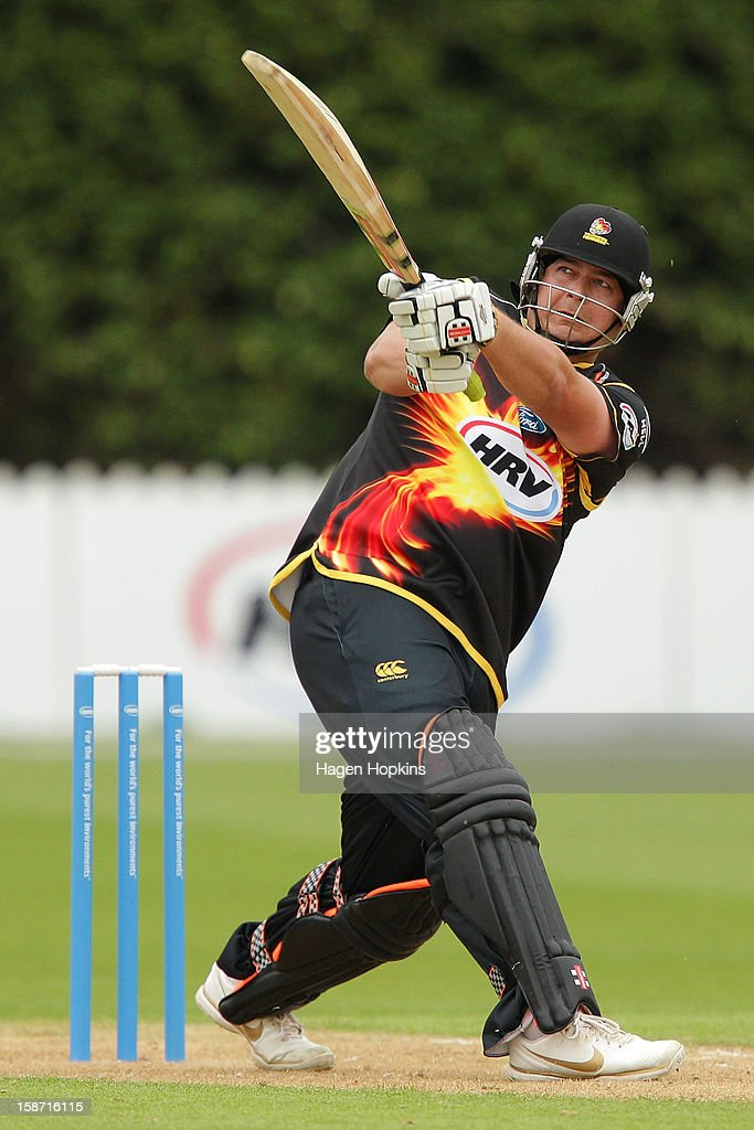 <a gi-track='captionPersonalityLinkClicked' href=/galleries/search?phrase=Jesse+Ryder&family=editorial&specificpeople=795832 ng-click='$event.stopPropagation()'>Jesse Ryder</a> of Wellington bats during the Twenty20 match between Wellington Firebirds and Central Stags at Hawkins Basin Reserve on December 26, 2012 in Wellington, New Zealand.