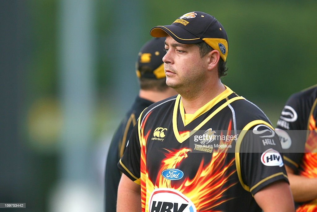 Jesse Ryder of Wellington looks on after the HRV T20 Final match between the Otago Volts and the Wellington Firebirds at University Oval on January 20, 2013 in Dunedin, New Zealand.
