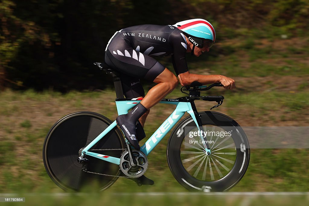 Jesse Sergent of New Zealand in action in the Elite Men's Time Trial, from Montecatini Terme to Florence on day four of the UCI World Championships on September 25, 2013 in Florence, Italy.