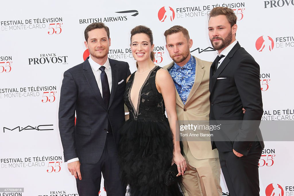 Jesse Soffer, Marina Squerciati, Brian Geraghty and Patrick Fueger attends the 55th Monte Carlo TV Festival Opening Ceremony at the Grimaldi Forum on June 13, 2015 in Monte-Carlo, Monaco.