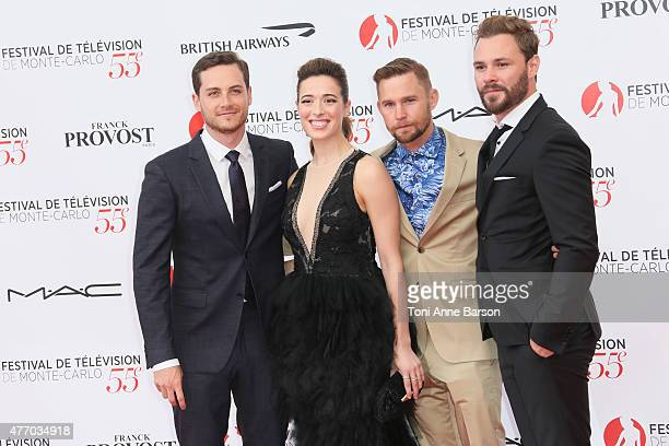 Jesse Soffer Marina Squerciati Brian Geraghty and Patrick Fueger attends the 55th Monte Carlo TV Festival Opening Ceremony at the Grimaldi Forum on...