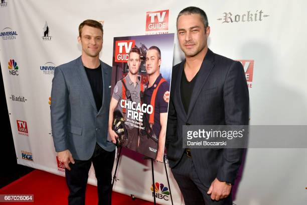 Jesse Spencer and Taylor Kinney attend TV Guide Celebrates Cover Stars Taylor Kinney Jesse Spencer at RockIt Ranch on April 10 2017 in Chicago...