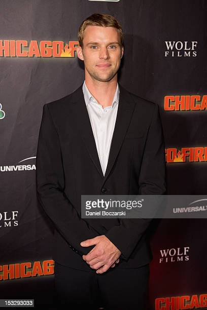 Jesse Spencer attends NBC's 'Chicago Fire' premiere at the Chicago History Museum on October 2 2012 in Chicago Illinois