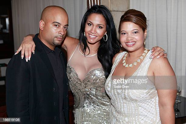 Jesse Terrero Rosa Acosta and Isandra Gonzales pose at the 6th Annual Dominican Republic Global Film Festival 2012 Day 1 on November 14 2012 in Santo...