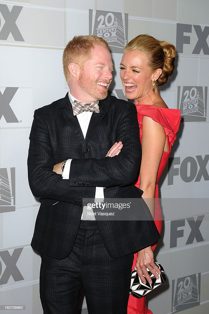 <a gi-track='captionPersonalityLinkClicked' href=/galleries/search?phrase=Jesse+Tyler+Ferguson&family=editorial&specificpeople=633114 ng-click='$event.stopPropagation()'>Jesse Tyler Ferguson</a> (L) and <a gi-track='captionPersonalityLinkClicked' href=/galleries/search?phrase=Cat+Deeley&family=editorial&specificpeople=202554 ng-click='$event.stopPropagation()'>Cat Deeley</a> attend the Fox Broadcasting Company, Twentieth Century Fox Television and FX Emmy Party at Soleto on September 23, 2012 in Los Angeles, California.