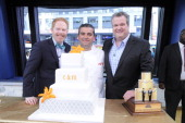 AMERICA Jesse Tyler Ferguson and Eric Stonestreet compete in a cake decorating contest on GOOD MORNING AMERICA 5/12/14 airing on the ABC Television...