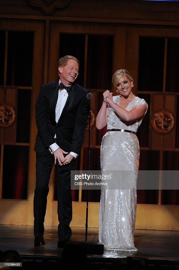 Jesse Tyler Ferguson and Jane Krakowski during THE 67TH ANNUAL TONY AWARDS broadcast live from Radio City Music Hall in New York City, Sunday, June 9 (8:00-11:00 PM, live ET/delayed PT) on the CBS Television Network.