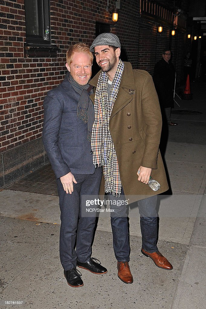 <a gi-track='captionPersonalityLinkClicked' href=/galleries/search?phrase=Jesse+Tyler+Ferguson&family=editorial&specificpeople=633114 ng-click='$event.stopPropagation()'>Jesse Tyler Ferguson</a> and Justin Mikita as seen on February 26, 2013 in New York City.