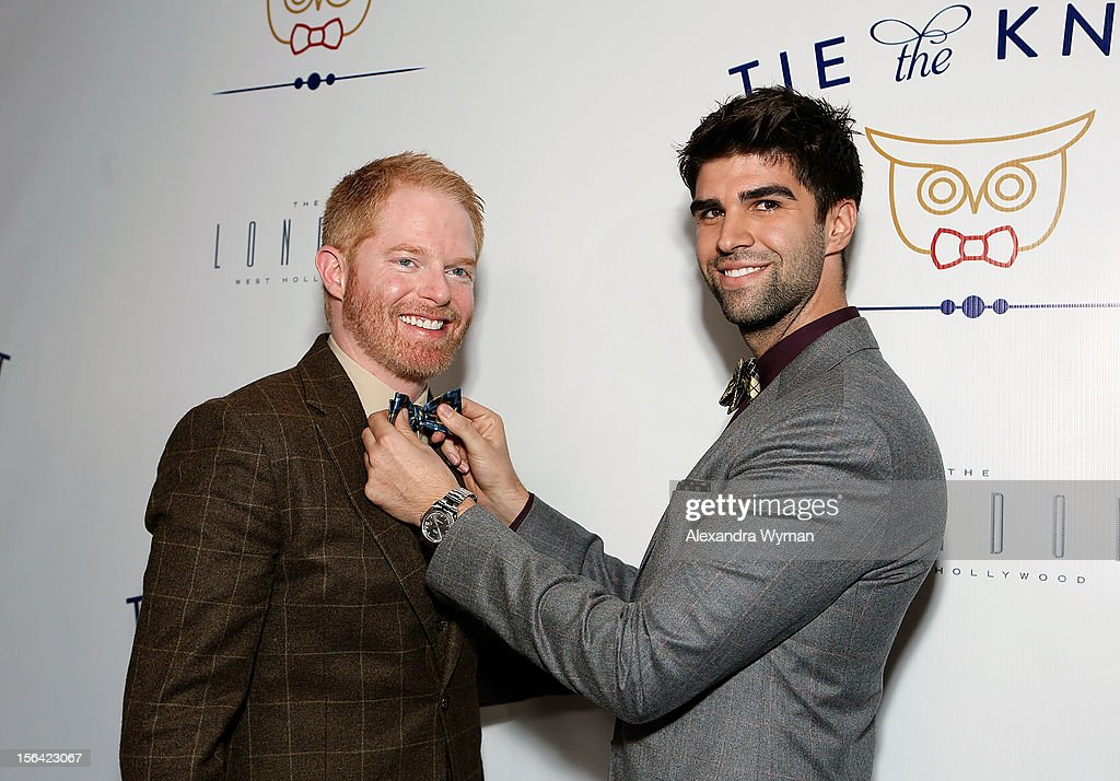 Jesse Tyler Ferguson and Justin Mikita at the launch of Tie The Knot, a charity benefitting marriage equality through the sale of limited edition bowties available online at TheTieBar.com/JTF held at The London West Hollywood on November 14, 2012 in West Hollywood, California.