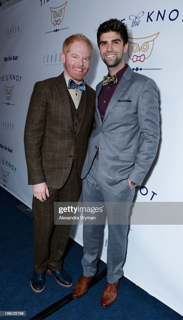 <a gi-track='captionPersonalityLinkClicked' href=/galleries/search?phrase=Jesse+Tyler+Ferguson&family=editorial&specificpeople=633114 ng-click='$event.stopPropagation()'>Jesse Tyler Ferguson</a> and Justin Mikita at the launch of Tie The Knot, a charity benefitting marriage equality through the sale of limited edition bowties available online at TheTieBar.com/JTF held at The London West Hollywood on November 14, 2012 in West Hollywood, California.