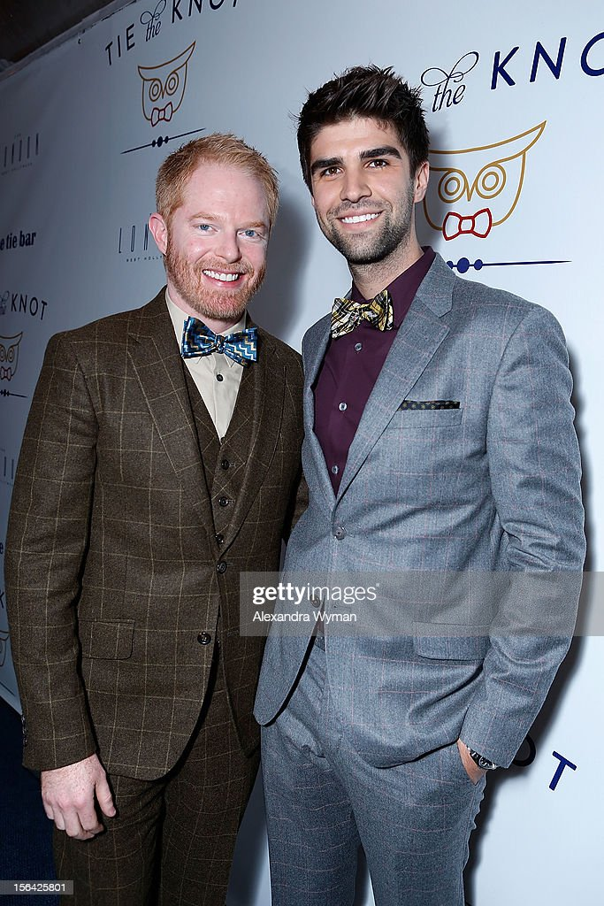 <a gi-track='captionPersonalityLinkClicked' href=/galleries/search?phrase=Jesse+Tyler+Ferguson&family=editorial&specificpeople=633114 ng-click='$event.stopPropagation()'>Jesse Tyler Ferguson</a> and <a gi-track='captionPersonalityLinkClicked' href=/galleries/search?phrase=Justin+Mikita&family=editorial&specificpeople=7458663 ng-click='$event.stopPropagation()'>Justin Mikita</a> at the launch of Tie The Knot, a charity benefitting marriage equality through the sale of limited edition bowties available online at TheTieBar.com/JTF held at The London West Hollywood on November 14, 2012 in West Hollywood, California.