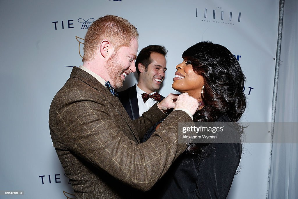 Jesse Tyler Ferguson and Niecy Nash at the launch of Tie The Knot, a charity benefitting marriage equality through the sale of limited edition bowties available online at TheTieBar.com/JTF held at The London West Hollywood on November 14, 2012 in West Hollywood, California.
