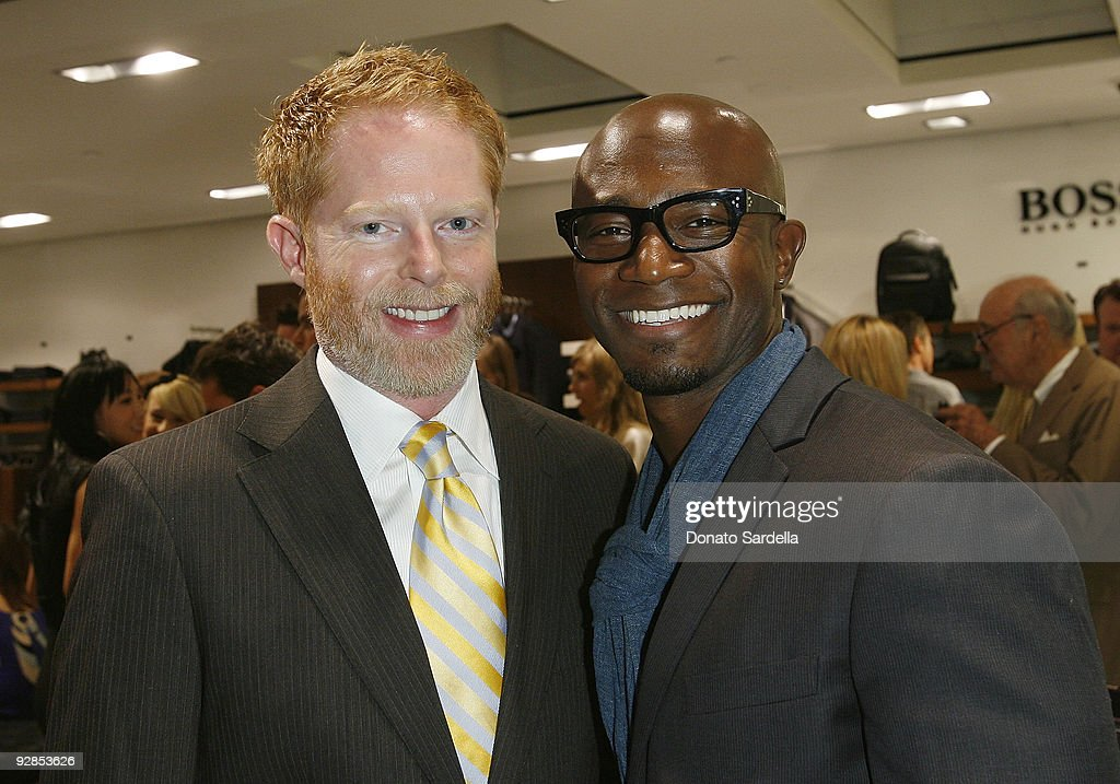 Jesse Tyler Ferguson and Taye Diggs attend Hugo Boss & Vanity Fair with Elizabeth Banks Host Children's Hospital Los Angeles Benefit on November 5, 2009 in Beverly Hills, California.