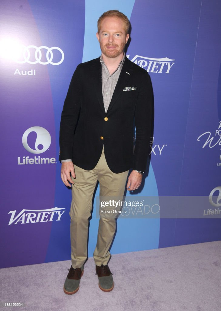 Jesse Tyler Ferguson arrives at the Variety's 5th Annual Power Of Women Event at the Beverly Wilshire Four Seasons Hotel on October 4, 2013 in Beverly Hills, California.