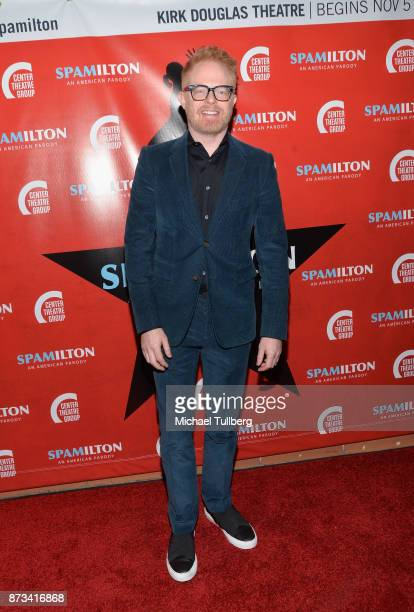 Jesse Tyler Ferguson attends the opening night of 'Spamilton' at Kirk Douglas Theatre on November 12 2017 in Culver City California