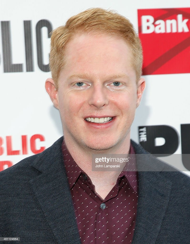 <a gi-track='captionPersonalityLinkClicked' href=/galleries/search?phrase=Jesse+Tyler+Ferguson&family=editorial&specificpeople=633114 ng-click='$event.stopPropagation()'>Jesse Tyler Ferguson</a> attends the Public Theater's 2014 Gala celebrating 'One Thrilling Combination' on June 23, 2014 in New York, United States.