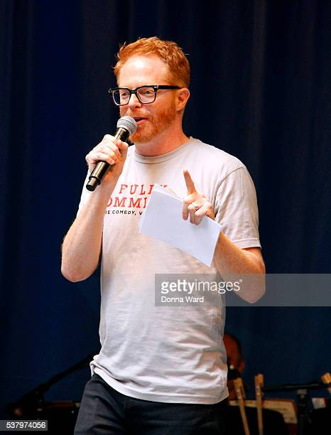 Jesse Tyler Ferguson from 'Fully Committed' appears during the 2016 Stars In The Alley at Shubert Alley on June 3 2016 in New York City