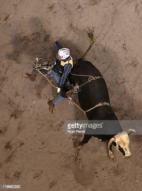 Jesse Van Nek of Australia rides Cam Chain during the 2011 PBR Australian Cup Series Final at Acer Arena on July 9 2011 in Sydney Australia