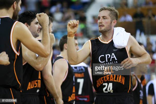 Jesse Wagstaff in action before during the 2017 SinoAustralia Men's International Basketball Challenge match between the Australian and China on July...