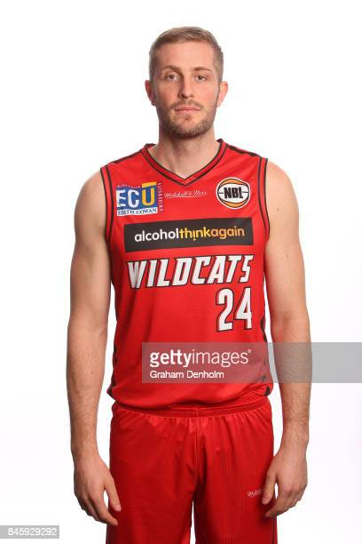 Jesse Wagstaff of the Perth Wildcats poses during the 2017/18 NBL Media Day at Crown Entertainment Complex on September 11 2017 in Melbourne Australia
