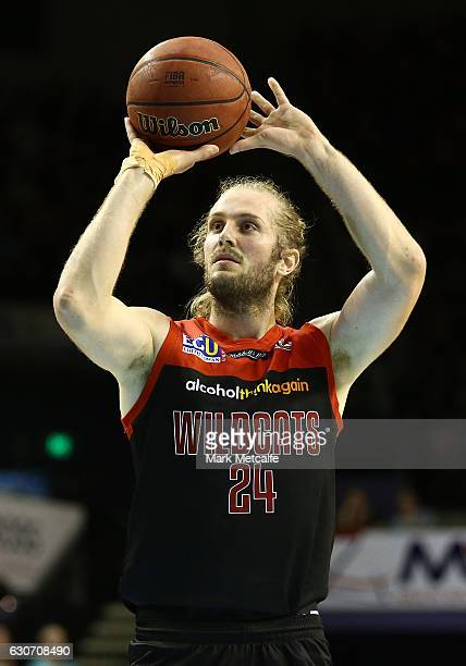 Jesse Wagstaff of the Wildcats shoots during the round 13 NBL match between Illawarra and Melbourne on December 31 2016 in Wollongong Australia
