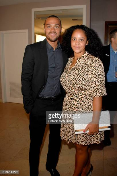 Jesse Williams and Arya T attend GQ World Oceans Day Party at Sunset Tower Hotel on June 8 2010 in West Hollywood California