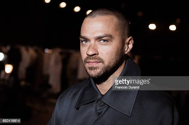 Jesse Williams attends the Kenzo Menswear Fall/Winter 20172018 show as part of Paris Fashion Week on January 22 2017 in Paris France