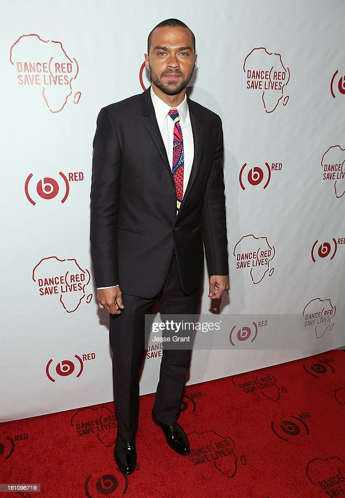 Jesse Williams attends the Skrillex, Diplo, Kaskade, Nero And Tommy Trash Perform Live, Supporting DANCE (RED), SAVE LIVES presented by Beats by Dr. Dre event at the AT&T Center on February 8, 2013 in Los Angeles, California.