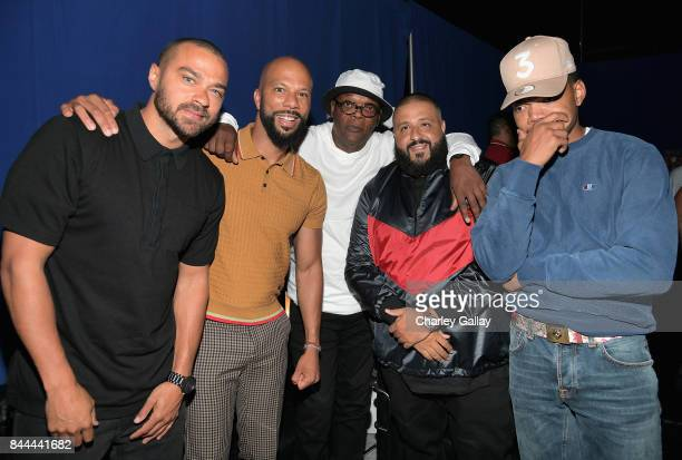 Jesse Williams Common Samuel L Jackson DJ Khaled and Chance the Rapper attend XQ Super School Live presented by EIF at Barker Hangar on September 8...
