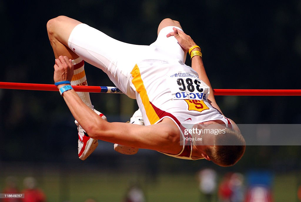 Jesse Williams of USC won the high jump in a meet record 75 3/4 in the Pacific10 Conference Track Field Championships at UCLA's Drake Stadium in...