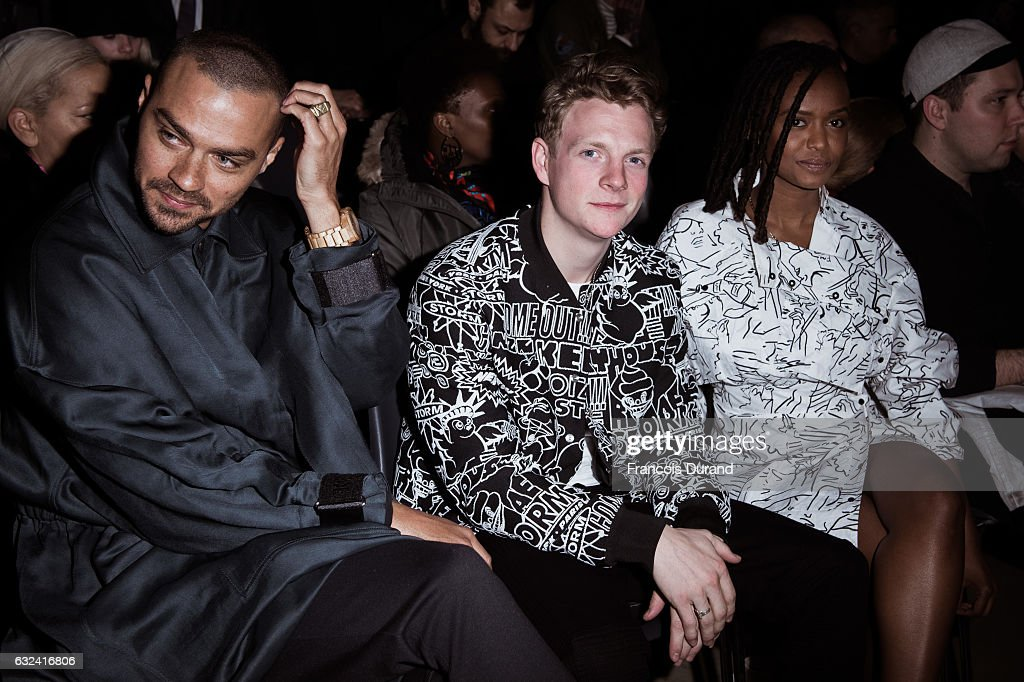 Jesse Williams, Patrick Gibson and Kelela attend the Kenzo Menswear Fall/Winter 2017-2018 show as part of Paris Fashion Week on January 22, 2017 in Paris, France.