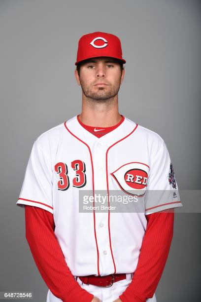 Jesse Winker of the Cincinnati Reds poses during Photo Day on Saturday February 18 2017 at Goodyear Ballpark in Goodyear Arizona