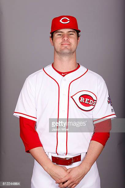 Jesse Winker of the Cincinnati Reds poses during Photo Day on Wednesday February 24 2016 at Goodyear Ballpark in Goodyear Arizona