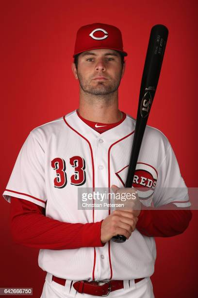 Jesse Winker of the Cincinnati Reds poses for a portait during a MLB photo day at Goodyear Ballpark on February 18 2017 in Goodyear Arizona