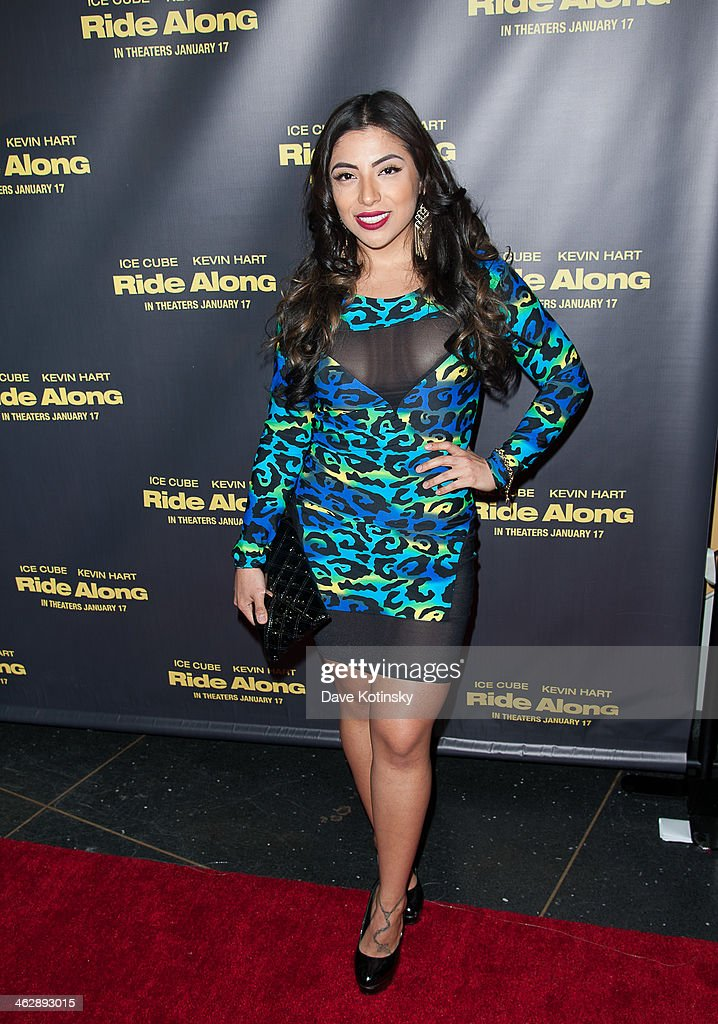 Jessenia Vice attends the 'Ride Along' screening at AMC Loews Lincoln Square on January 15, 2014 in New York City.