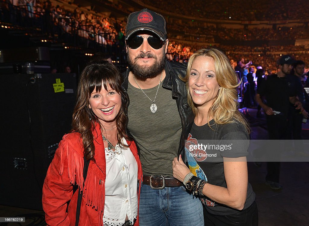 Jessi Colter, Eric Church, and Sheryl Crow backstage during Keith Urban's Fourth annual We're All For The Hall benefit concert at Bridgestone Arena on April 16, 2013 in Nashville, Tennessee.