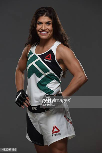 Jessica Aguilar poses for a portrait during a UFC photo session at the Sheraton Rio Hotel on July 28 2015 in Rio de Janeiro Brazil