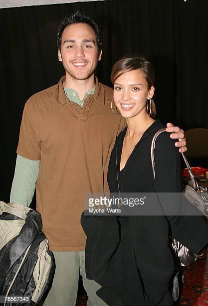 Jessica Alba and Brother Joshua Alba