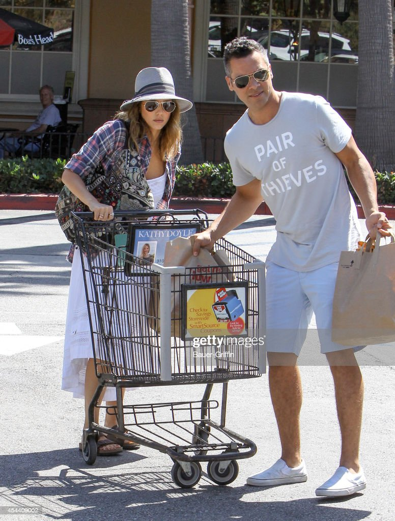 Jessica Alba and Cash Warren are seen in Malibu on August 30 2014 in Los Angeles California