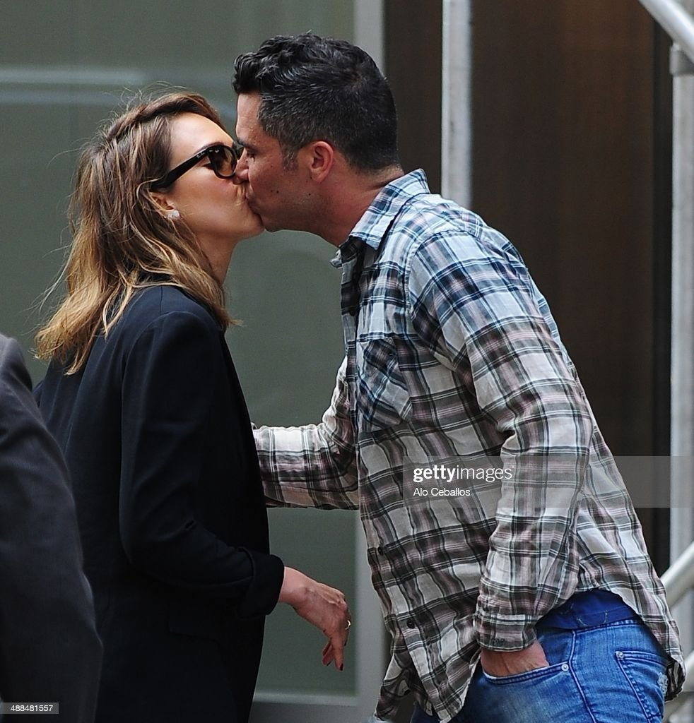 Jessica Alba and Cash Warren are seen in Soho on May 6 2014 in New York City