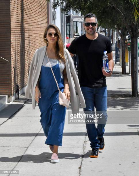 Jessica Alba and Cash Warren are seen on August 20 2017 in Los Angeles California