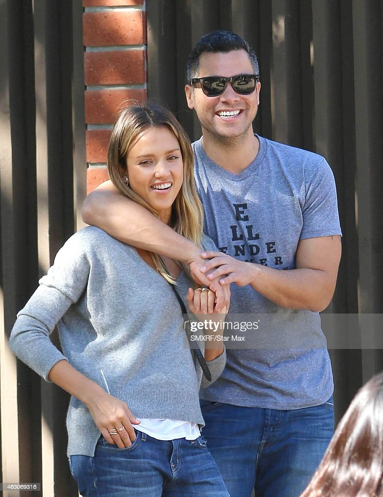 Jessica Alba and Cash Warren are seen on February 8 2015 in Los Angeles California